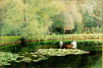 The Lily Pond by Edward R Taylor. (GS)