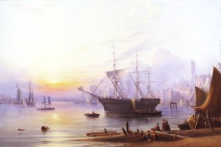 The Harbour at North Shields by Joseph Crawhall. (GS)