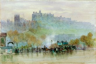 A View of Edinburgh Castle by Herbert Menzies Marshall. (GS)