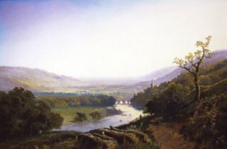 A View of Richmond, Yorkshire by Edmund John Niemann. (GS)