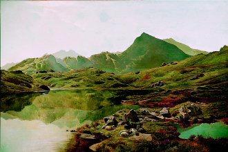 Llyn y Cwm Fflynnon, North Wales by Richard Sidney Percy. (GS)