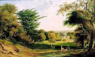 A View of Mereworth Castle and Park by John F Tennant (GL)