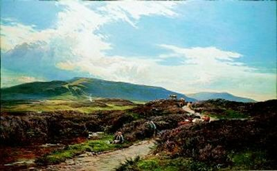 A Perthshire Moor by Richard Sidney Percy. (GS)