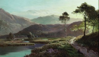 A View of Ambleside, Westmoreland by Richard Sidney Percy. (GS)