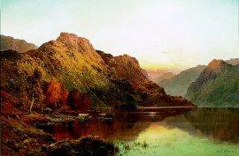 Loch Katrine by Alfred de Breanski. (GL)