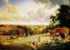 A Summers Afternoon, Near Merryworth, Kent by George Vicat Cole. (GL)