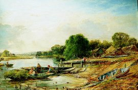 Near Wargrave on Thames by William W Gosling. (GS)