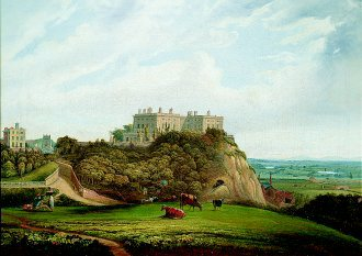 Nottingham Castle by Alfred Parker. (GS)