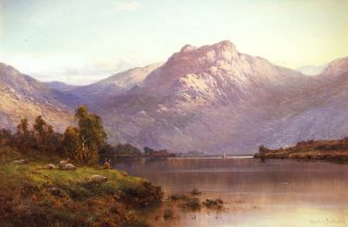 A View of Ben More at Sunset by Alfred de Breanski (GL)