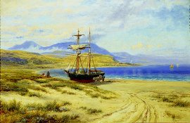 A Beach Scene in North Wales by Robert Gallon (GS)