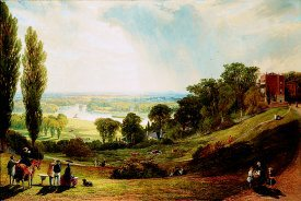The Thames from Richmond Hill by Alexander F Rolfe. (GS)