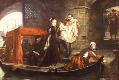 Mary Queen of Scots arriving at the Tower of London by Robert Hillingford (GL)
