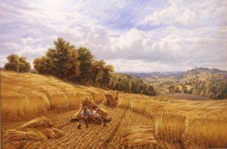 A Golden harvest by Alfred Augustus Glendening. (GL)