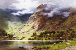 Highland Landscape by Charles Stuart. (GL)