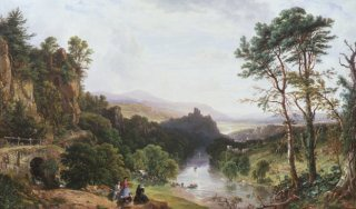 A View of the Wye River, South Wales by John F Tennant. (GL)