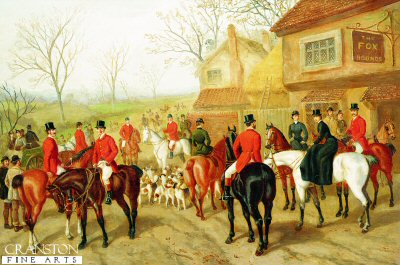 Before the Hunt , refreshments at the Fox and Hounds by Edward Benjamin Herberte (GS)