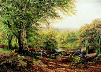 Near Weybridge, Surrey by Edmund George Warren. (GS)
