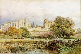 Kenilworth Castle by John Syer. (GS)