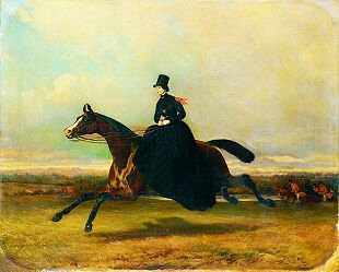 A Woman Hunting by Alfred De Dreux (1810-1860)