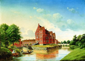 At Borreby Castle, Near Skaelskor by Peter Ivar Johannes Olsted. (GL)