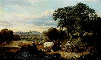 A View of Shrewsbury, 1881 by Edwin L Meadows. (GL)