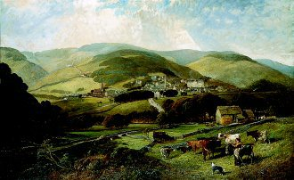 Buxton, Derbyshire from the South, Harper Hill  by Edwin L Meadows. (GL)