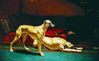 Two Greyhounds by Charles Emmanuel Jadin (GS)