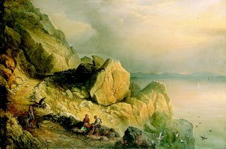 Slea Head on the North Shore of Dingle Bay, 1876 by Captain Richard Brydges Beechey. (GL)