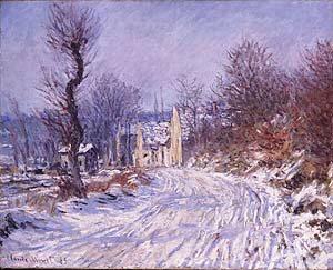 Route de Giverny en Hiver by Claude Monet. (GS)