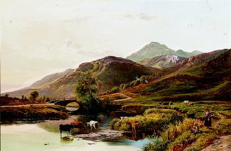 In the Welsh Hills by Richard Sidney Percy. (GS)