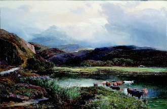 Summer Afternoon Near Dolgelly, North Wales by Richard Sidney Percy. (GS)