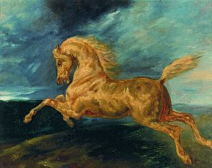 A Horse Frightened by Lightning by Theodore Gericault. (GS)