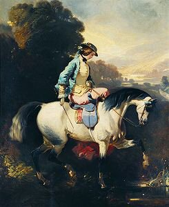 An Elegant Equestrienne on a Grey Horse by Alfred de Dreux. (GS)