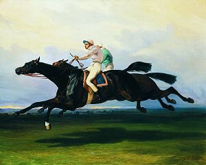 The Race by Alfred de Dreux (1810-1860) (GS)
