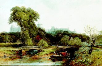 A View of Windsor Castle by Thomas Creswick. (GL)