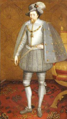 The Sutherland Portrait of James VI of Scotland by John de Critz. (GS)