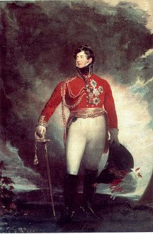 Portrait of the Prince Regent by Sir Thomas Lawrence. (GL)