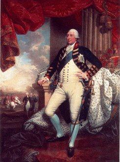 A Portrait of King George III by Matthew Brown. (GL)