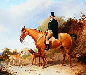 Edward Gibbon of Everton, Near Liverpool on His Hunter by Richard Ansdell. (GS)