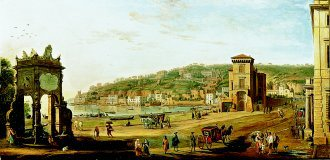 A View of Chiaia Towards Mergellina, Naples by Gaspar van Wittel (GL)