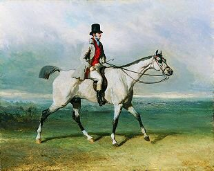 Noble Man on Horseback by Alfred de Dreux. (GS)