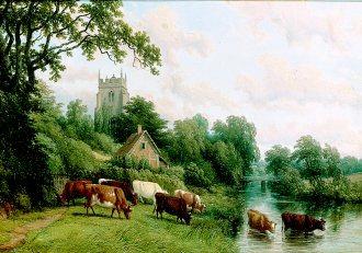 Ashow, Warwickshire, 1857 by Thomas Baker (GL)