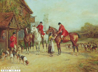 Outside The three Crowns by Heywood Hardy (GL)