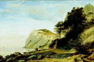 The Cliffs of Moen, Denmark 1852 by Peter Christian Skovgaard. (GS)