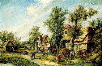 A Busy Village by Georgina Lara. (GL)