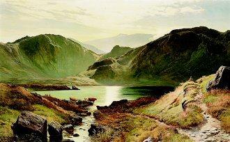 Easdale Tarn, Westmoreland, 1871 by Richard Sidney Percy. (GL)