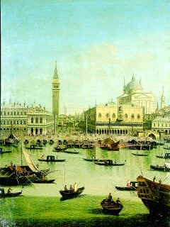 A Capriccio View of the Piazzetta with the Church of Il Redontore by follower of Giovanni Antonio Canaletto. (GL)