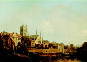 A View of Worcester Cathedral from the River by William Marlow. (GL)