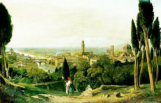 Florence from St Miniato by William James Muller. (GS)