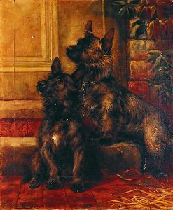 Scotties, 1895 by Fannie Moody. (GS)